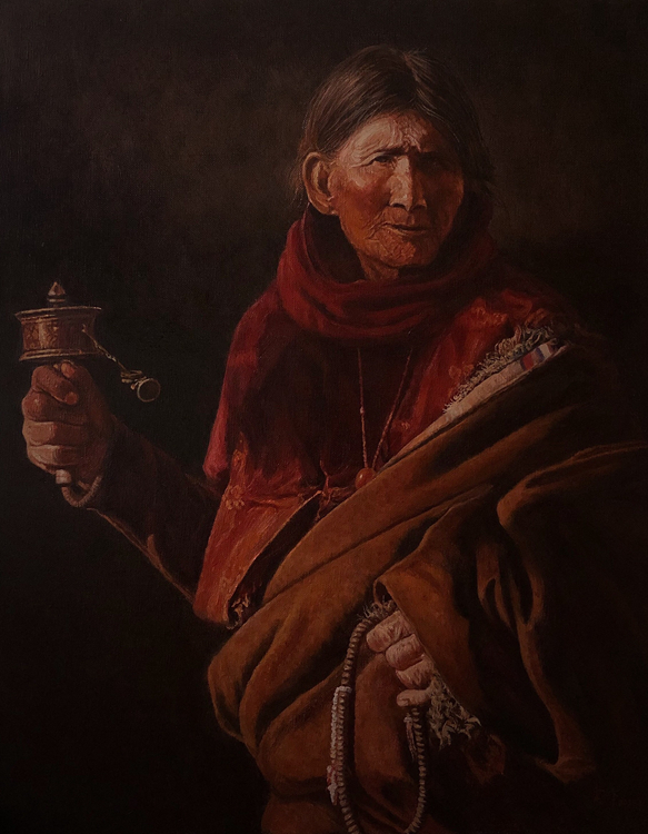 《愛的祈禱》單震宇    油畫
