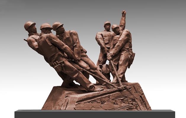 李鶴 《致最可愛的人——火神五兄弟》 雕塑 2020年