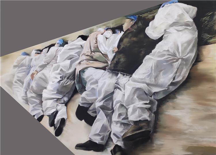 《白衣天使》王晨宇  水彩畫