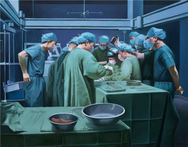 《生命線》李傳軍 油畫