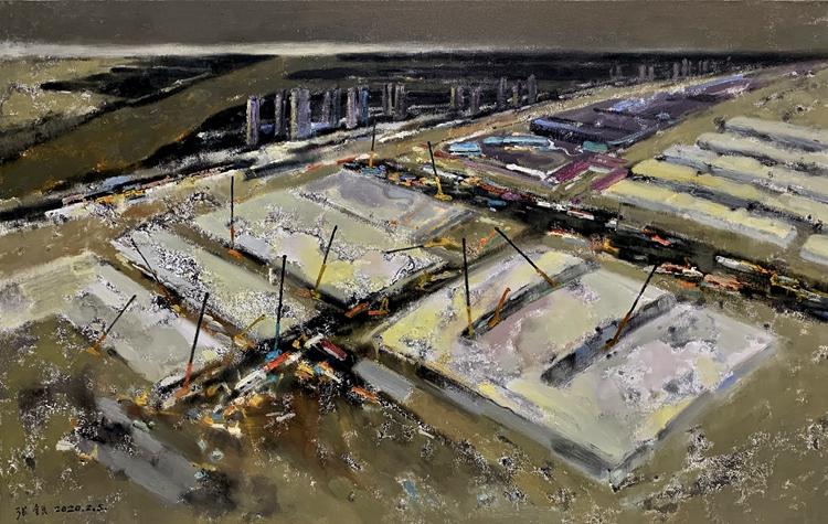 《再戰雷神山》張銳 油畫