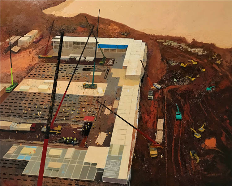 《中國速度》羅松    油畫