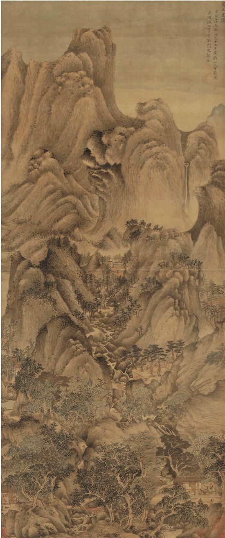 元 王蒙 夏山高隱圖軸 絹本水墨 故宮博物院