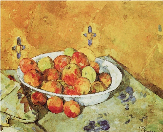 保羅·塞尚 蘋果盤 布面油畫 約1877年 芝加哥藝術學院