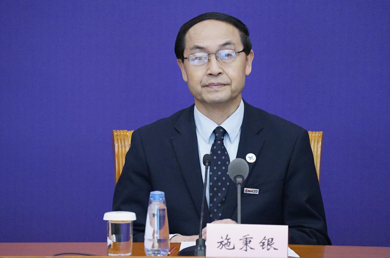 西安交通大学第一附属医院院长施秉银 央视网记者 刘亮 摄
