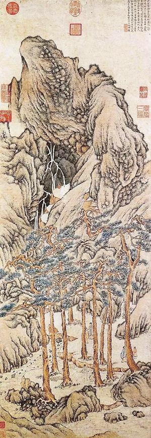 松壑飛泉圖 文徵明