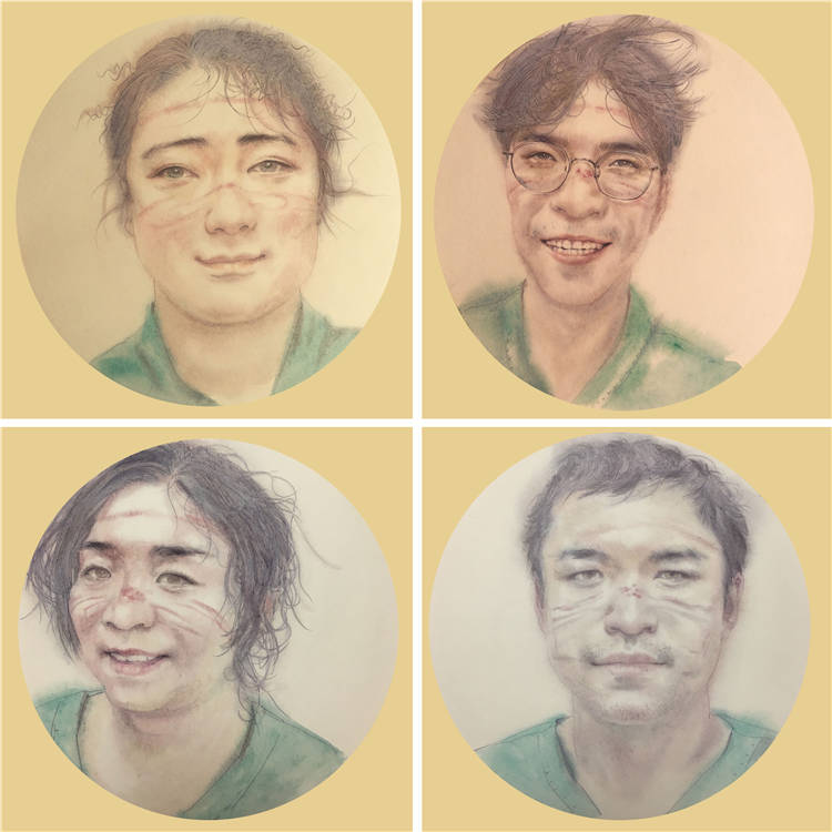 《青春印跡》 李傑  中國畫