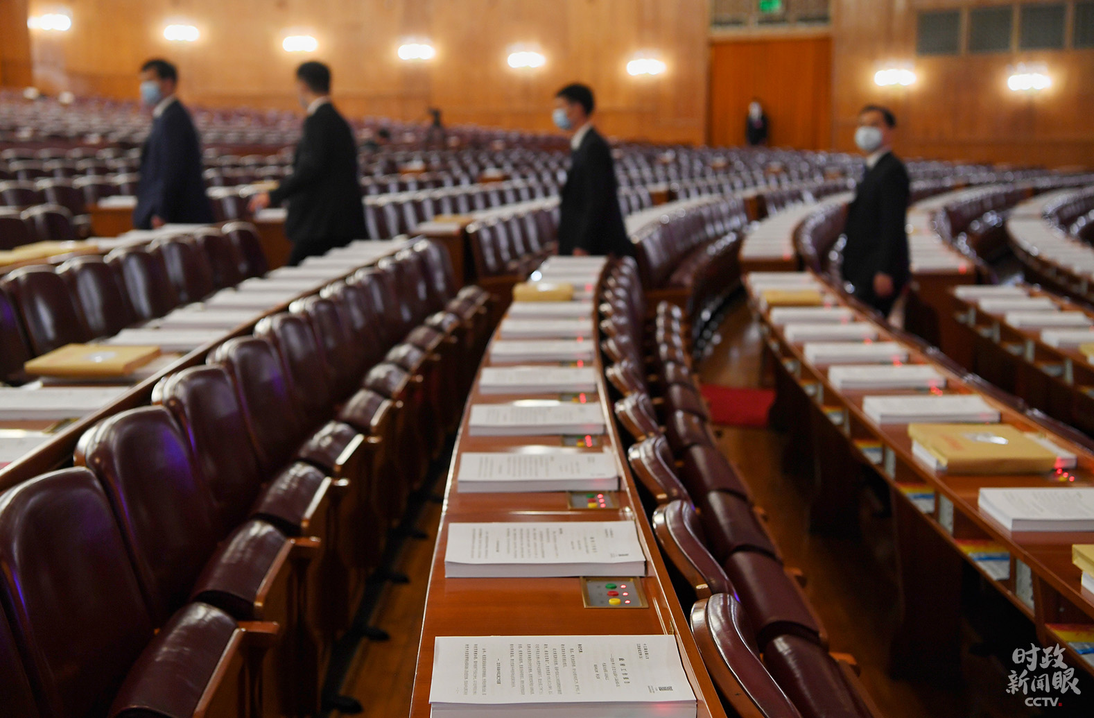 大礼堂静待大会开幕。(总台央视记者张宇、廖江衡拍摄)