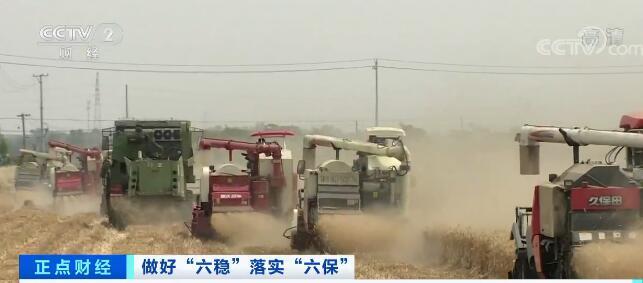 我国各地喜迎丰收 麦收进度近七成半