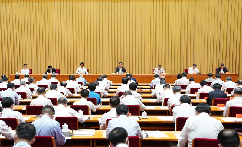 8月28日至29日,中央第七次西藏工作座谈会在北京召开。中共中央总书记、国家主席、中央军委主席习大大出席会议并发表重要讲话。新华社记者 饶爱民 摄