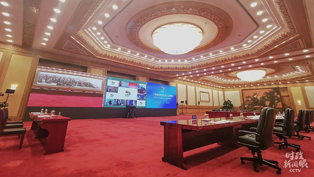 北京,会议开始前的现场(总台央视记者张晓鹏拍摄)