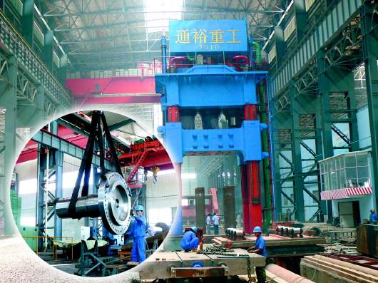 △通裕重工1.2万吨自由锻液压力机,是全国第4家、山东第1家万吨压图片