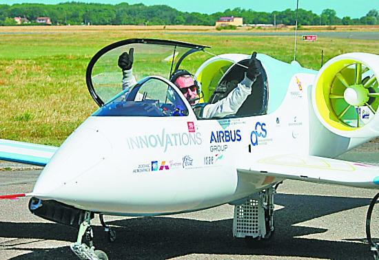 空客电动飞机首飞英吉利海峡