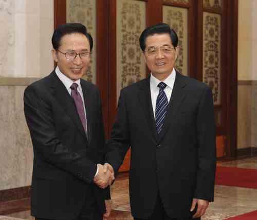 Председатель КНР Ху Цзиньтао провел переговоры с президентом Республики Корея