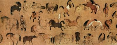 The One Hundred Horses Painting