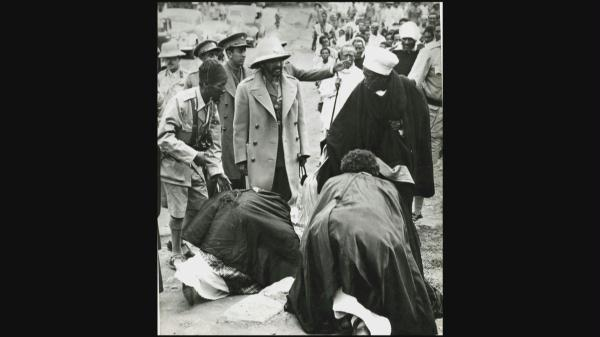 Image result for Bowing to the Emperor of Ethiopia