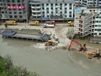 Zhouqu: recul des eaux