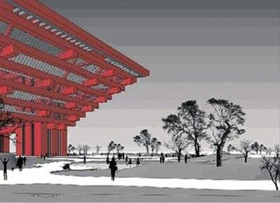Expouniverselle2010:Desjardinssurlestoitsdespavillonschinois