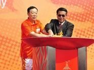 Огонь Азиатских игр прибыл в город Цзянмэнь