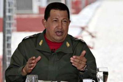Venezuela'sPresidentHugoChavezspeaksduringhisweeklybroadcast