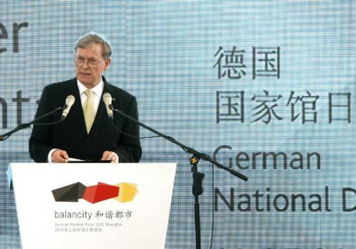 May 19th is the Germany Pavilion Day at the Shanghai World Expo. German president Horst Koehler attends a series of programs, including a variety show and a music concert.