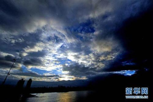 The center of this year's eighth tropical storm--Namtheun--has made landfall in south-east China's Fujian province.