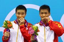 Chinese pair wins synchronized men´s 10m platform