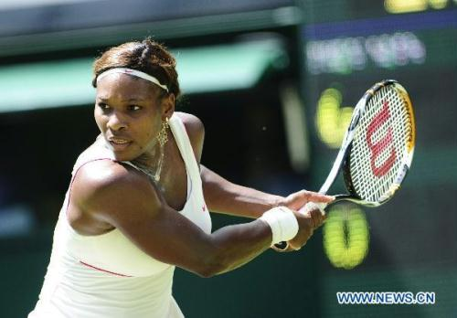 Day two of the Wimbledon Championships and defending champion Serena Williams enjoyed the gentlest of workouts in her first-round match, securing a comfortable straight-sets victory over Portugal's Michelle Larcher de Brito.