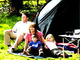 家庭式的露营生活