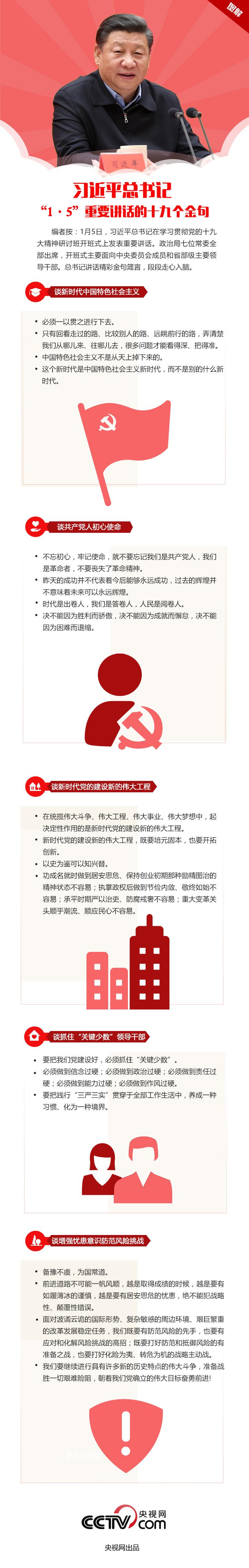 """图解:习近平总书记""""1·5""""重要讲话的十九个金句 新湖南www.hunanabc.com"""