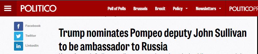 美国政治新闻网报道截图