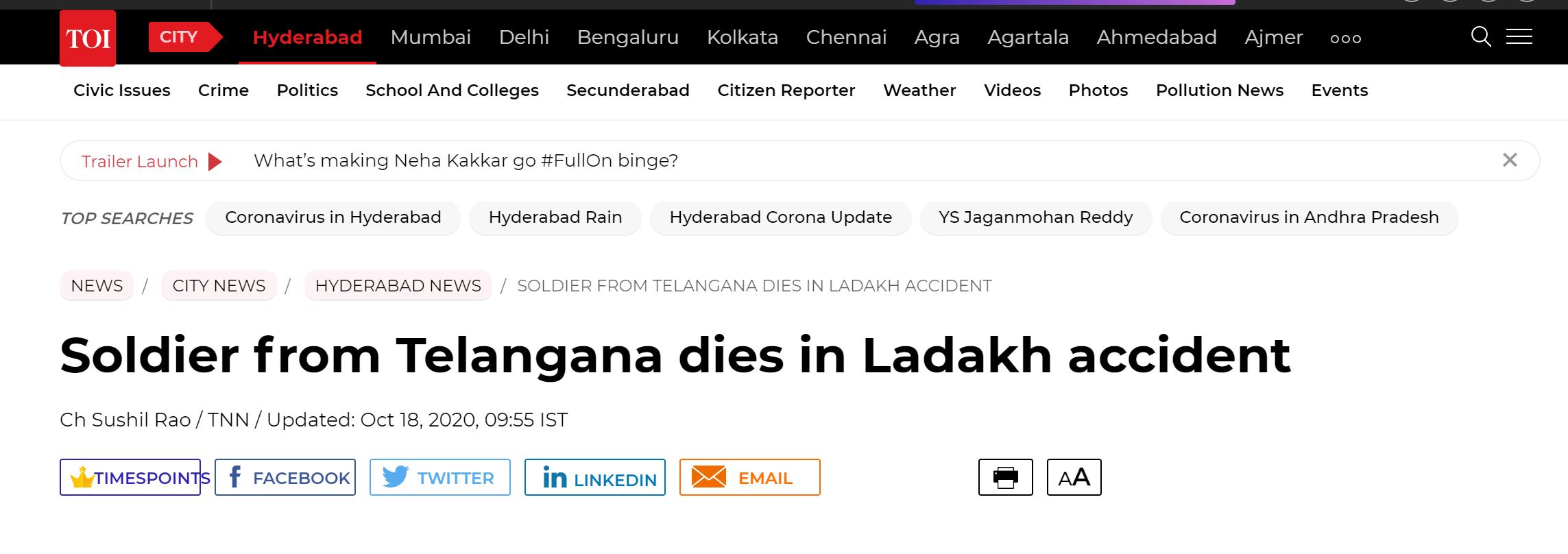 印媒:印军在中印边境又翻车 一人死亡多人受伤