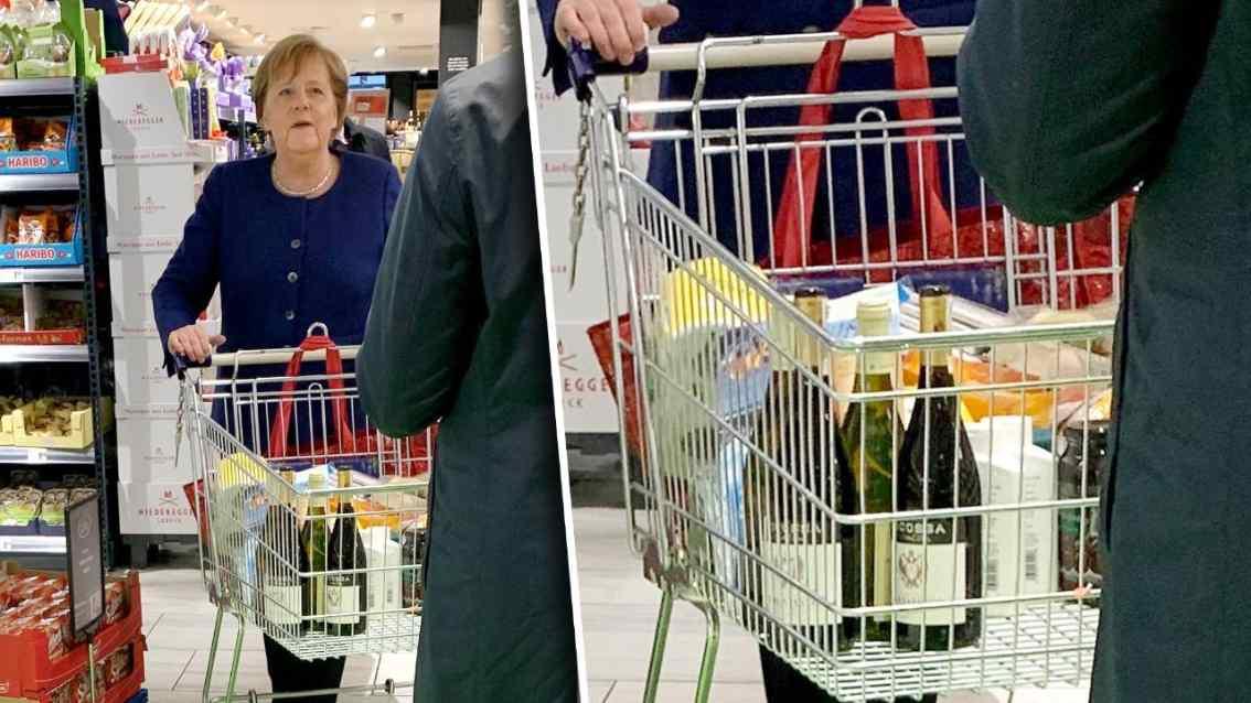 对抗疫情有信心 德国总理默克尔现身超市购物