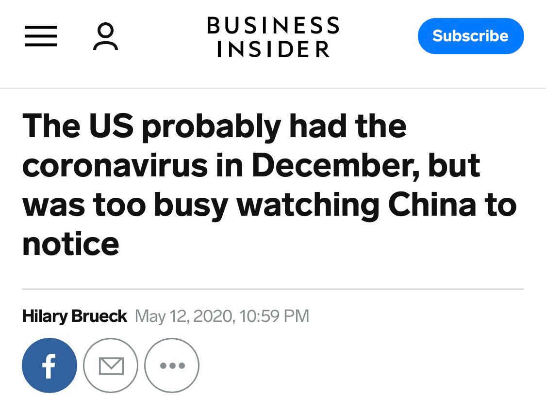 美媒爆料:美国或去年12月已有新冠病毒_因只关注中国而忽视了