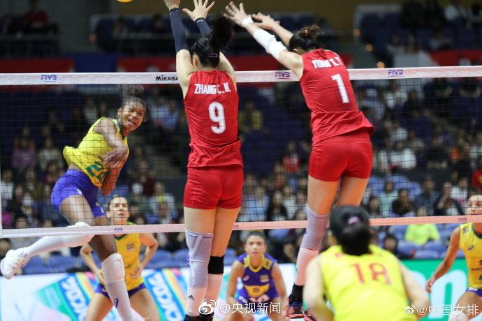 六连胜!中国女排3-2胜巴西 明日迎战美国女排
