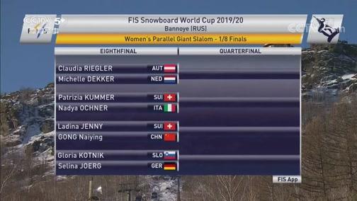 2019-20赛季单板滑雪世界杯 俄罗斯班诺耶站 女子平行大回转 20191210
