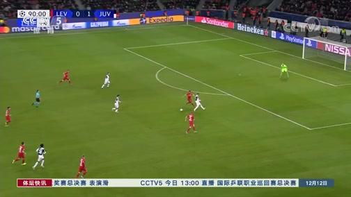 [欧冠]C罗进球 尤文图斯战胜勒沃库森晋级
