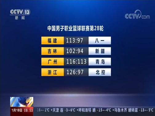 [朝闻天下]中国男子职业篮球联赛第28轮