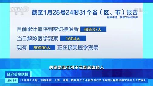 [经济信息联播]李兰娟:疫情目前仍处于发病高峰期