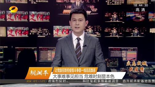 [湖南新闻联播]胡湘平 让党旗在防控疫情斗争第一线高高