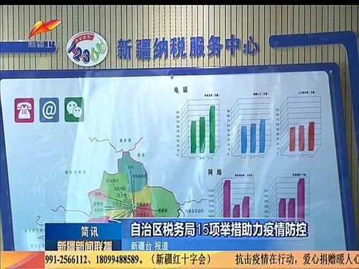 [新疆新闻联播]自治区税务局15项举措助力疫情防控