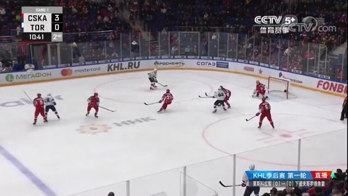 2019-20赛季大陆冰球联赛 季后赛第一轮 莫斯科红军VS下诺夫哥罗德鱼雷 第一场 20200303