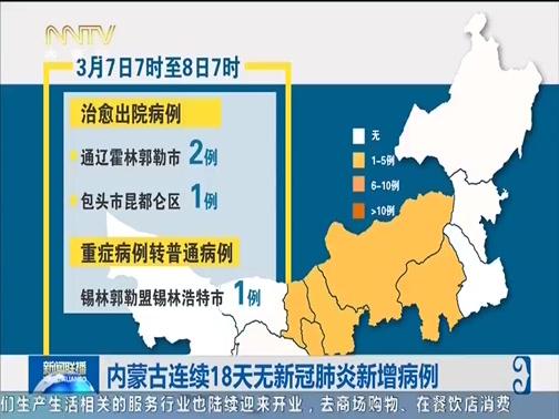 [内蒙古新闻联播]内蒙古连续18天无新冠肺炎新增病例