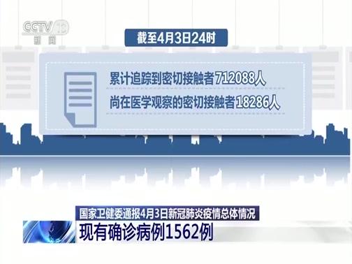 [新闻30分]国家卫健委通报4月3日新冠肺炎疫情总体情况 新增确诊19例 境外输入18例 武汉本土1例央视网2020年