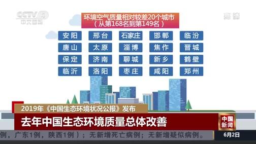 [中国新闻]2019年《中国生态环境状况公报》发布
