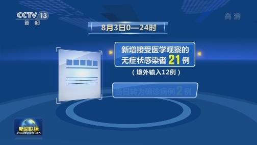 [视频]8月3日新增新冠肺炎确诊病例36例