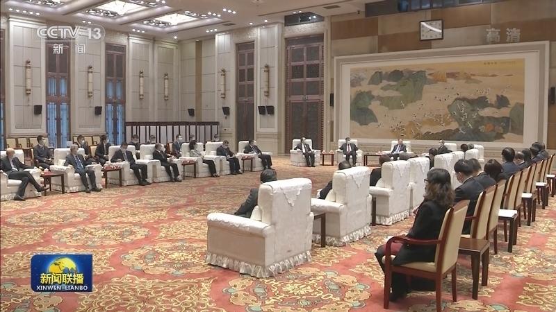 汪洋会见欧美同学会(中国留学人员联谊会)第八届理事会会长会成员