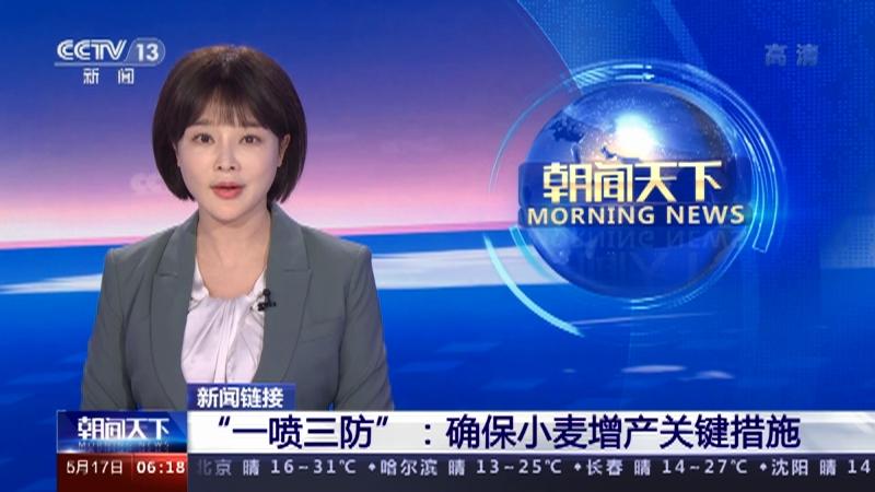 """[朝闻天下]新闻链接 """"一喷三防"""":确保小麦增产关键措施央视网2021年05月17日06:23"""