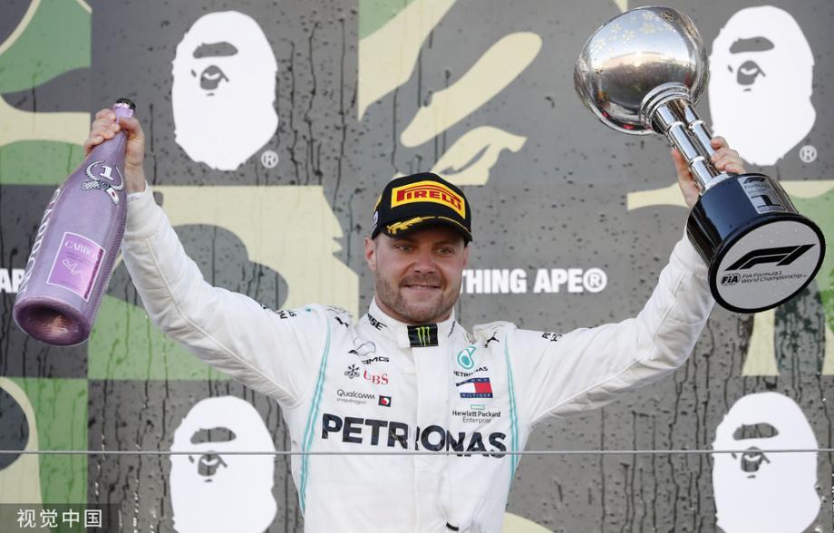 [图]F1日本站-博塔斯夺冠 梅奔提前4站卫冕冠军