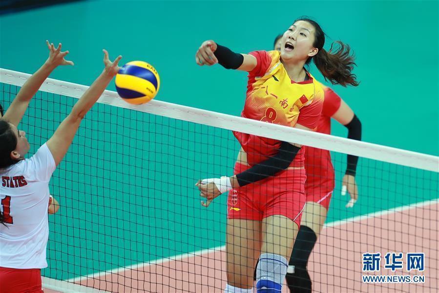 [图]军运会女排首轮-中国八一女排迎来开门红